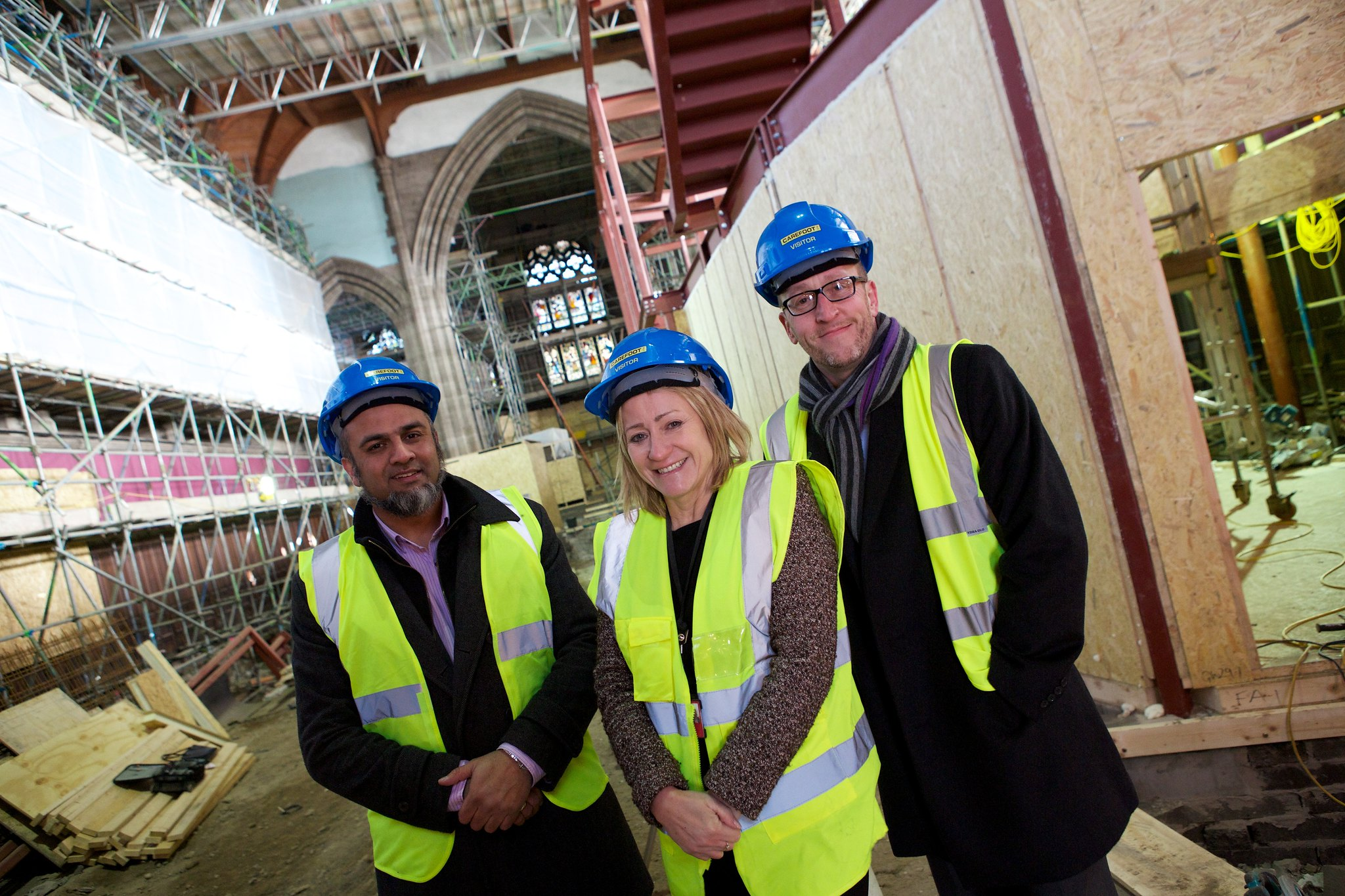 Inayat Omarji, chair of All Souls Bolton, Sharon Marriott, director of adults and higher education Bolton College and Andrew Suter director of All Souls Bolton