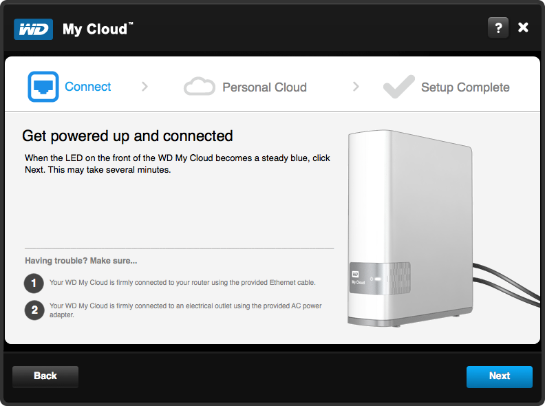 WD My Cloud Setup - Step 2