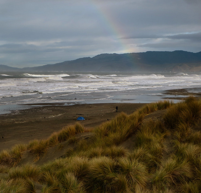 Rainbow at Ocean Beach, San Francisco; March 1, 2014