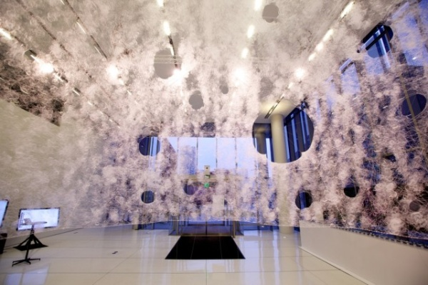 Silk Pavillion by MIT's Mediated Matter Group. Photo by MIT