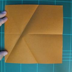 วิธีการพับกระดาษเป็นรูปกบ (แบบโคลัมเบี้ยน) (Origami Frog) 007