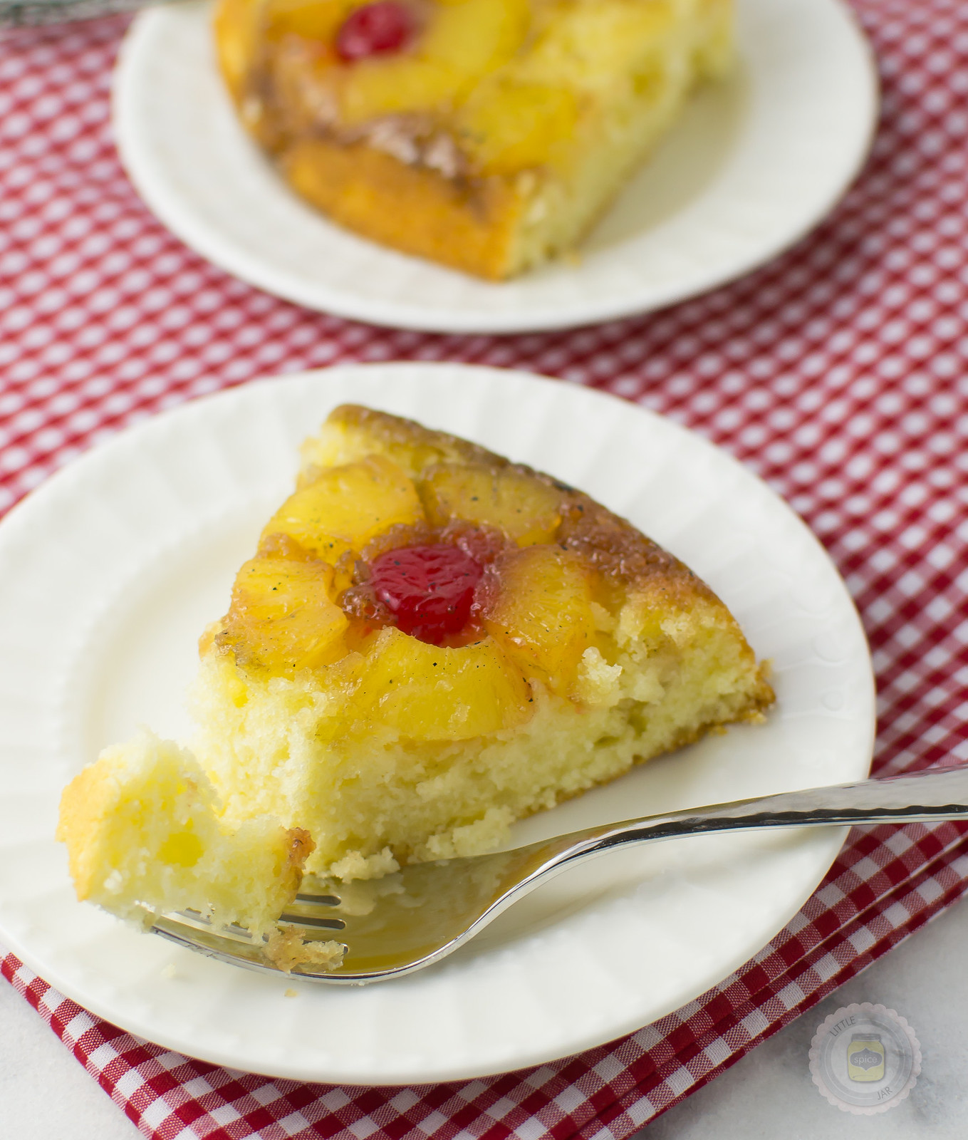 Pineapple Upside Down Cake Sliced_
