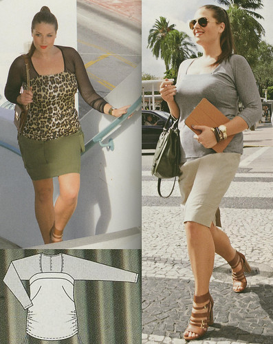 Burda-April-2014 Plus Size Square Neck Top