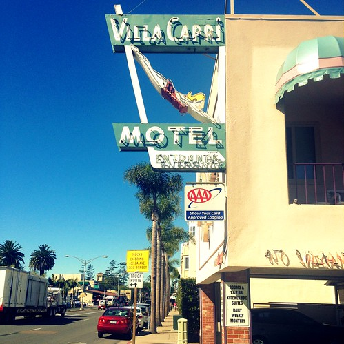 cute retro motel signage