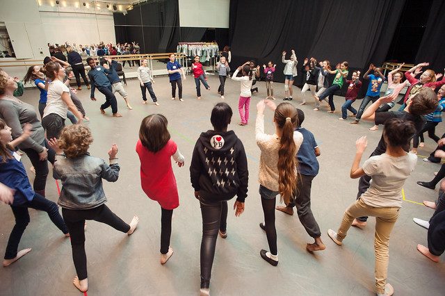 Rehearsals for The Crackle with the Youth Opera Company © ROH / Stephen Cummiskey 2014