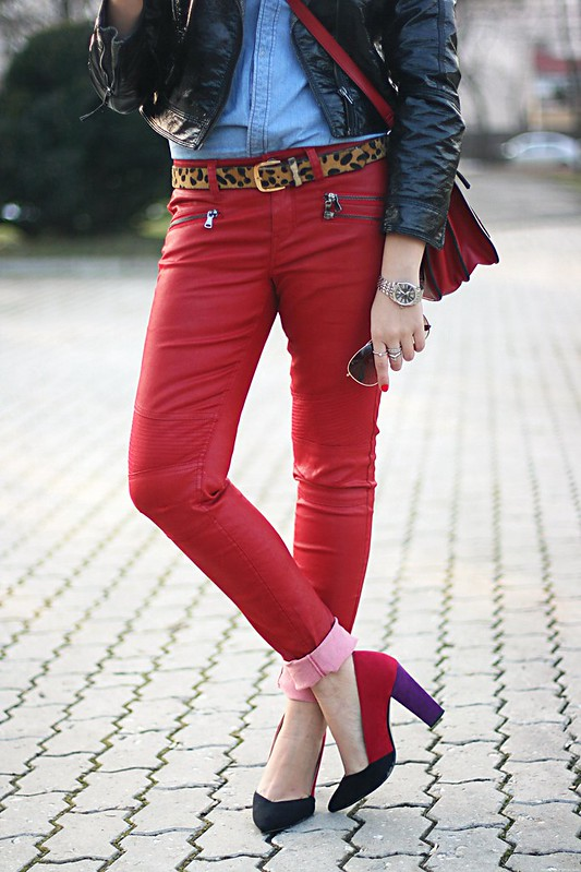 red leather pants 4
