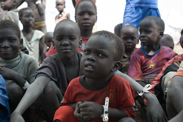 Children in Leitchour refugee camp, Gambella region Ethiopia.