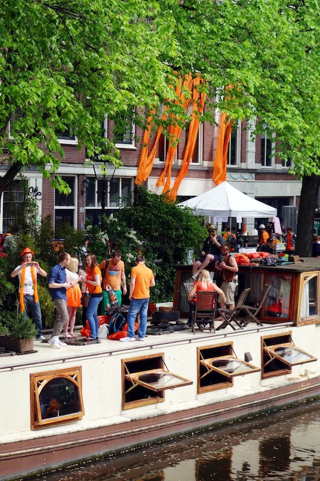 Amsterdam King's Day houseboat party
