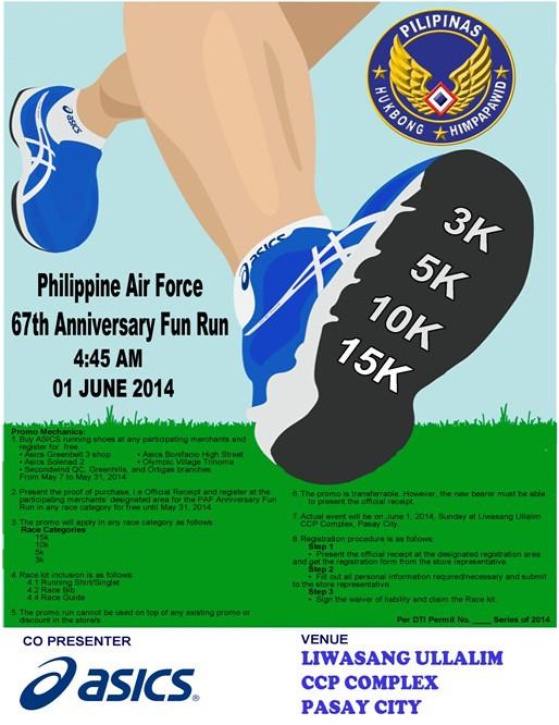 PAF Run poster