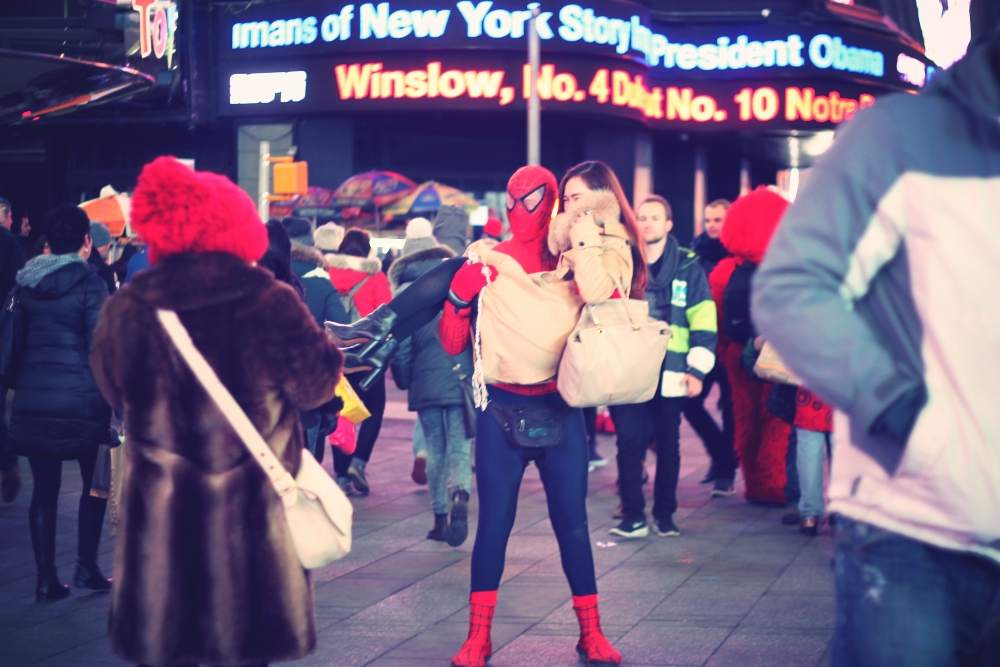 Spiderman Times Square Midtown Feb 2015 NYC