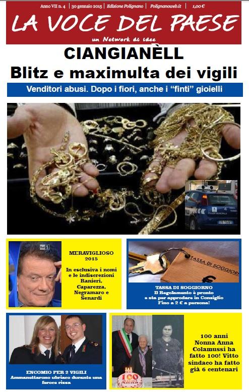 copertina la voce del paese 30 gennaio 2015 polignano