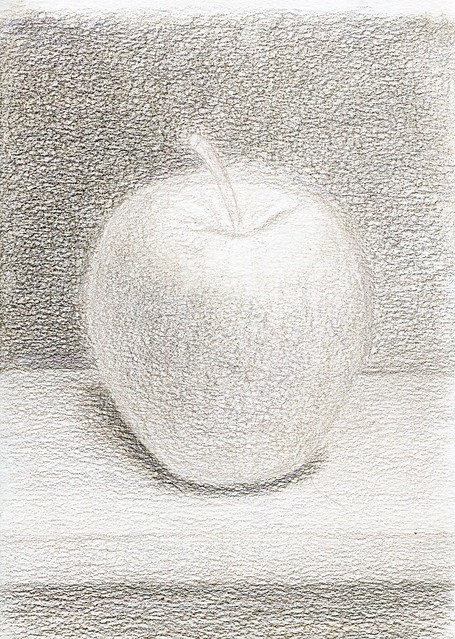 apple. grisaille. A5