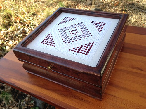 Finished hardanger box