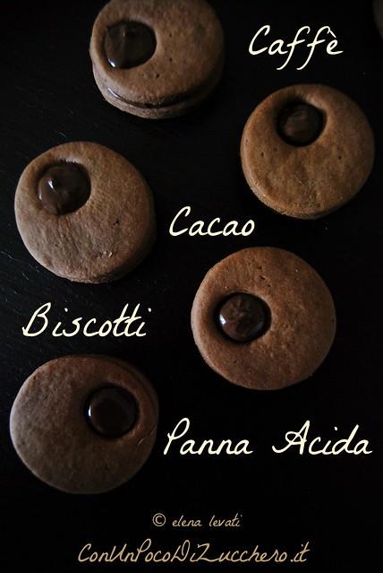 Biscotti caffè, cacao e panna acida