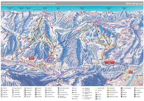 Brandnertal - mapa sjezdovek