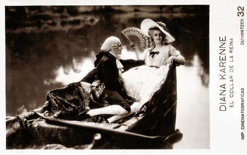 Diana Karenne in Le collier de la Reine (1929)