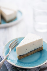Coconut and poppy seed cheese cake