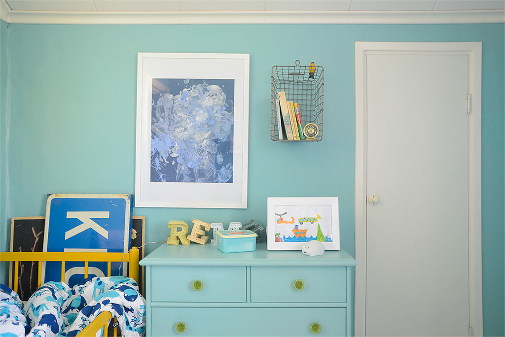Kids room with kid art
