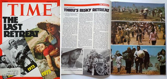 THE LAST RETREAT - TIME MAGAZINE MARCH 31 1975 - Cuộc triệt thoái cuối cùng - Cuộc rút lui đầy mạo hiểm của TT Thiệu