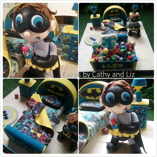 Baby Batman in His Edible Bat Cave Cake by Cathy An Liz