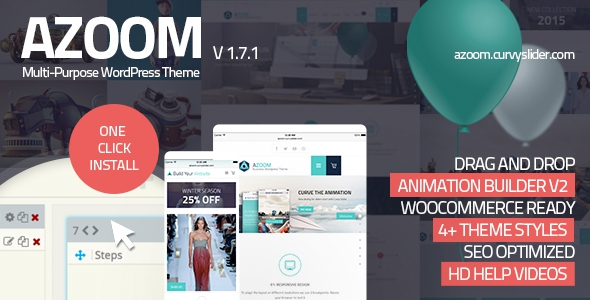 Azoom v1.7 - Multi-Purpose Theme with Animation Builder