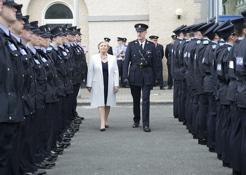 Tánaiste Frances Fitzgerald at the Garda Passing out Ceremony (8 June 2016). Photo: Richard Cullinan.