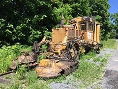 CPRail MOW equipment on the former Rensselaer and Saratoga in Ballston Spa...