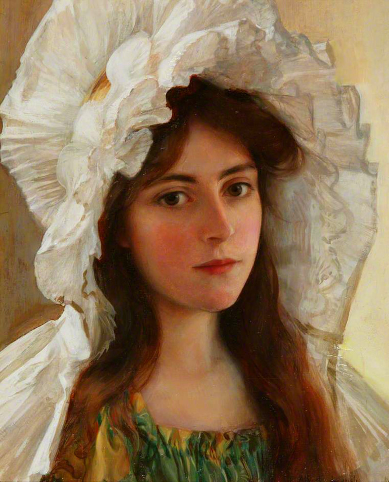 Head of a Girl by Albert Lynch