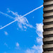 Contrails and Cromwell Tower by vlahos