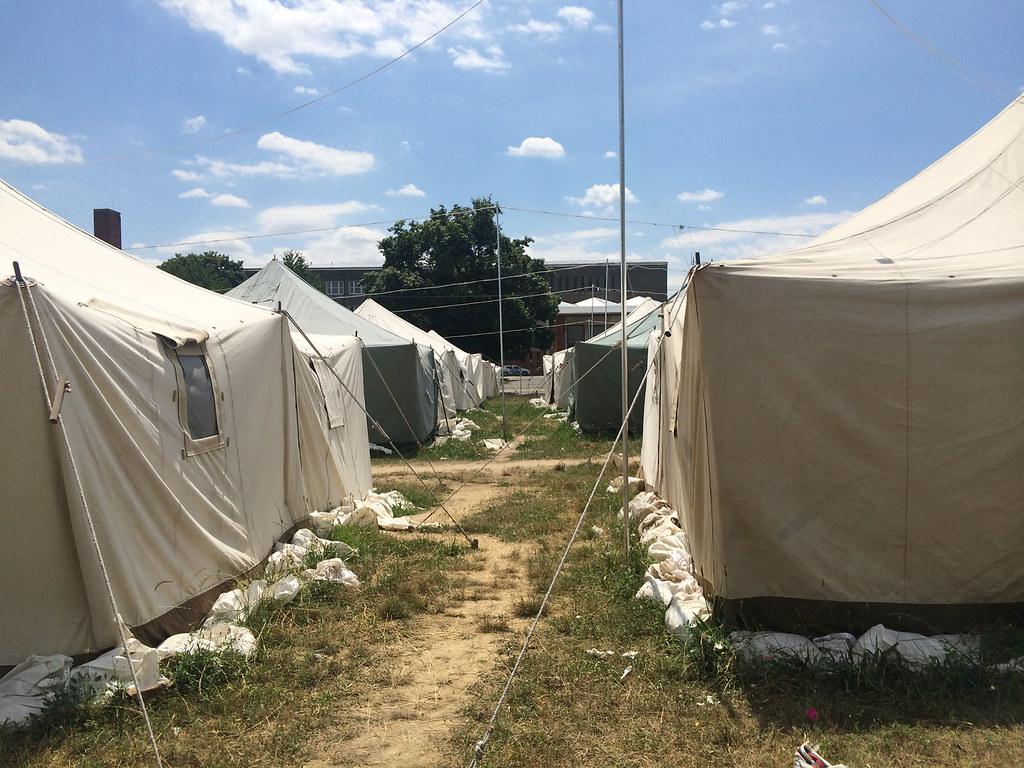 Menedékkérők tábora Körmenden