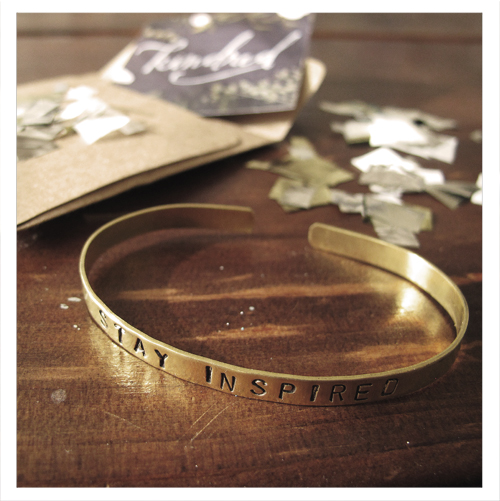 Stay Inspired Bracelet from Yay Kindred
