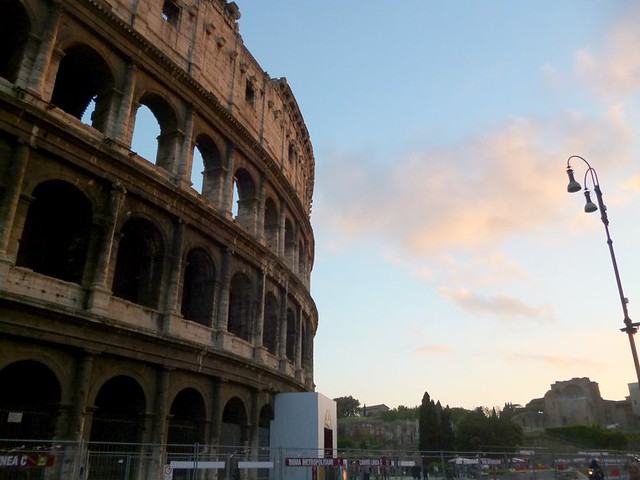Colosseum in the sunset