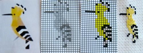 Hoopoe Cross-Stitch