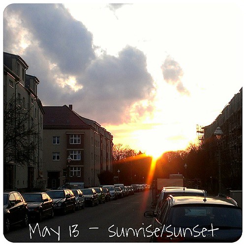 May 13: sunrise/sunset .. in #Berlin .. #fmsphotoaday