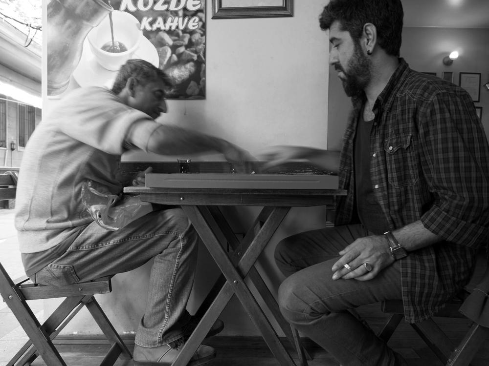 Istanbul - cafe backgammon, Taksim