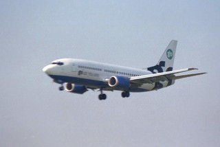Go-Fly Landing at London-Stansted Airport, August 1999