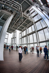 View inside the Shard observation floor