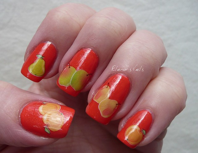 fruit decals nail art 1