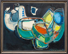 """Painting by Hans Hofmann (1880-1966): Shifting Planes, 1947 (Oil on wooden panel)"" / Galerie Hans Mayer / Art Basel Hong Kong 2013 / SML.20130523.6D.13872"