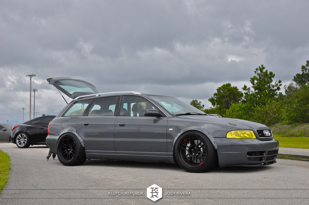 grey widebody b5 audi avant 2.7tt rpf1  slammed society at formula drift palm beach florida 2013 slammed dropped dumped bagged static coilovers hella flush stanced stance fitment low lowered lowest camber wheels tucked 16s 17s 18s 19s 20s 3piece 1 piece custom airbags scene scenester