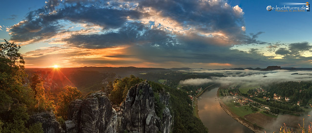Sunrise in Saxon Switzerland