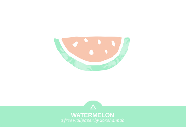 A Free Wallpaper by xoxohannah - Watermelon