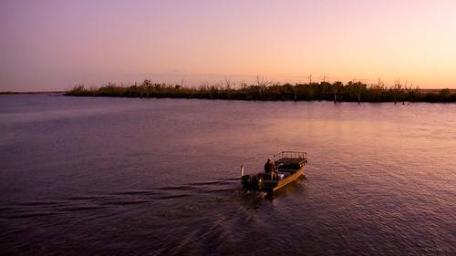 sunset water evening boat fishing louisiana dusk neworleans lafitte bayou fishingboat barataria jeanlafitte bayoubarataria