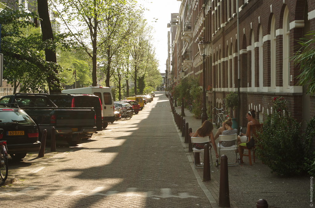 Amsterdam, Having Dinner on the Street in Plantage Area