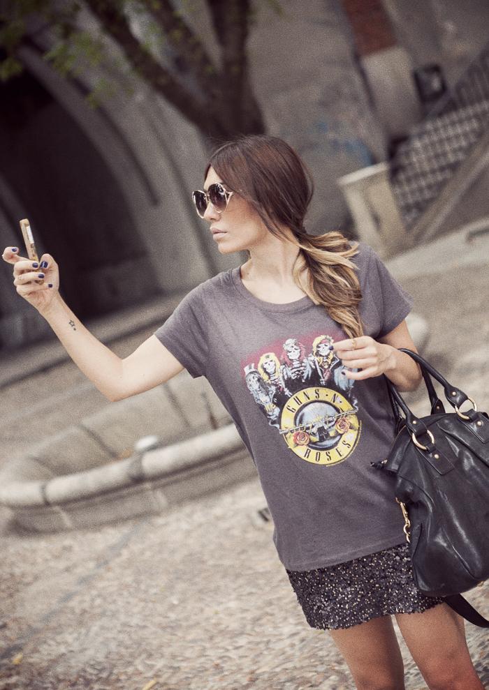 street style guns n´roses tshirt barbara crespo