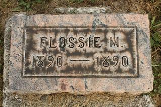 Flossie M. Shearer grave marker