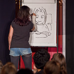 Emma Vieceli does some live drawing at Jura Unbound |