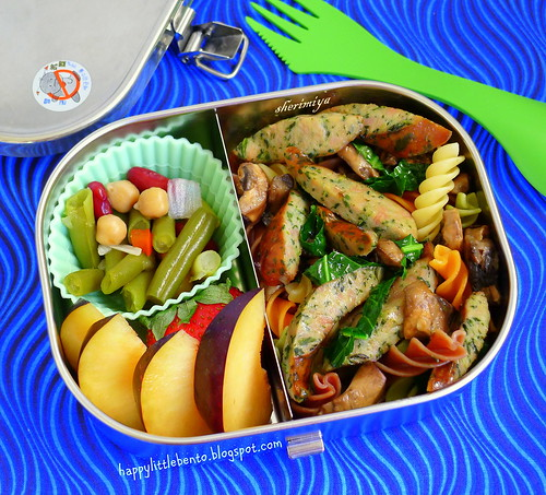 Sausage Rotini Mushroom Bento by sherimiya ♥