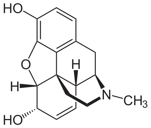morphine chemical structure