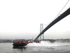 Hovercraft under the Lion's Gate Bridge
